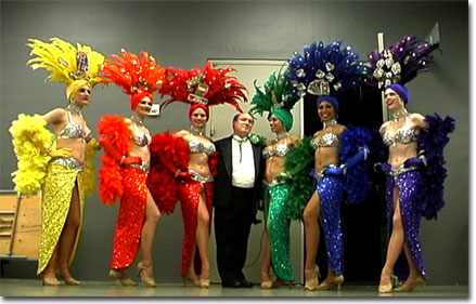 David with the Las Vegas dancers